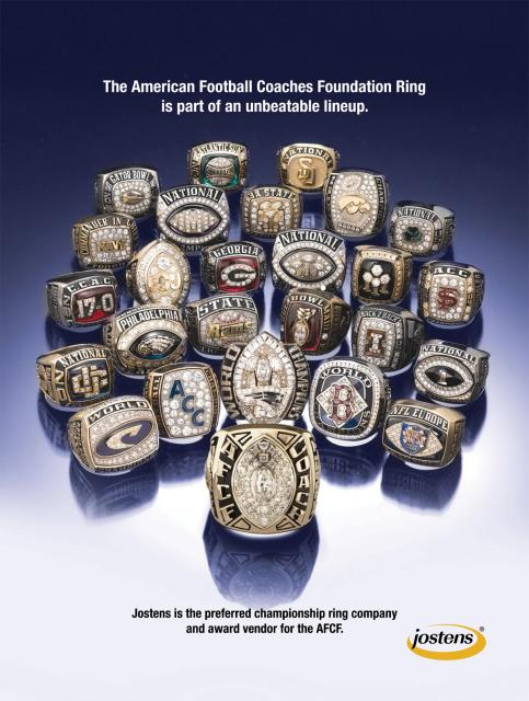 The American Football Coaches Foundation Ring is part of an unbeatable lineup.